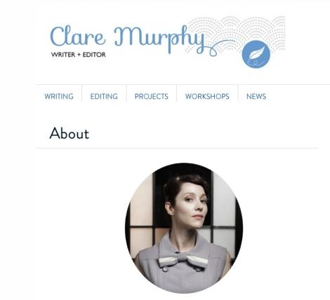 It lives: Clare-Murphy.com
